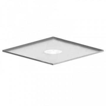 Фланец для дымохода (декоративный), нержавейка 0,5мм, 500х500, d230