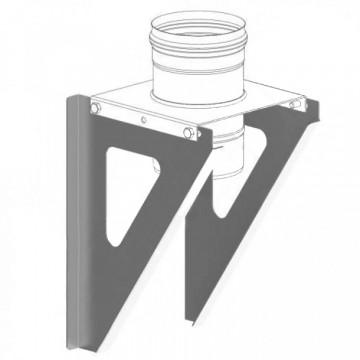 Консоль для труб настенная, нержавейка 2мм, L400