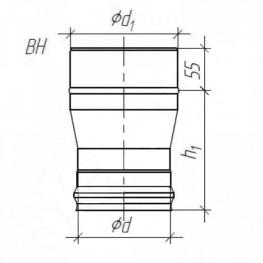Переход для дымохода, 0,5мм d-115*120