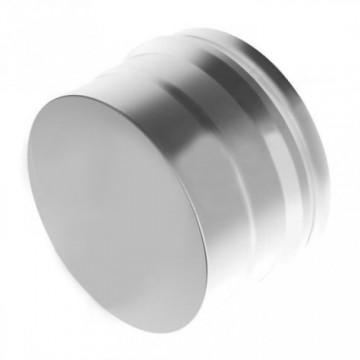 Заглушка для дымохода глухая Н, нержавейка 0,5мм d230