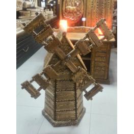 Мельница декоративная брашированная, лиственница