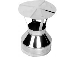 Оголовок-зонт для дымохода, Нерж. 0,5мм / Нерж. 0,5мм d115/200