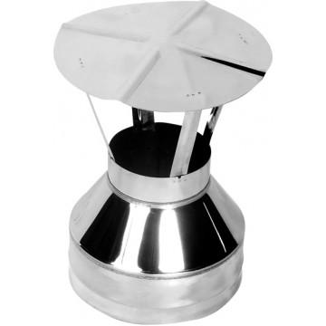 Оголовок-зонт для дымохода, Нерж. 0,5мм / Оцинк. 0,5мм d115/200